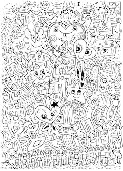 Hand gezeichnete Liebe kritzelt Partei