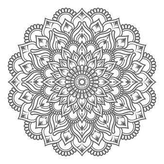 Hand gezeichnete mandala illustration