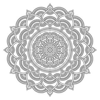 Hand gezeichnete mandalaillustration im kreisstil