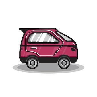 Hand gezeichnete microcar illustration