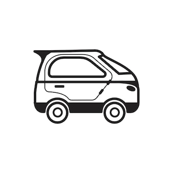 Hand gezeichnete microcar illustration