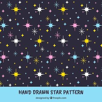 Hand gezeichnete muster mit sternen