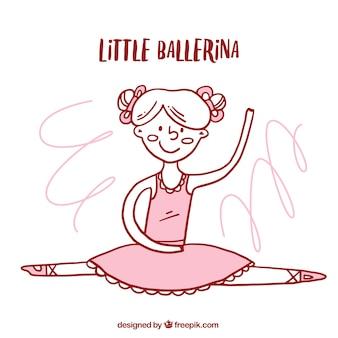 Hand gezeichnete nette kleine ballerina
