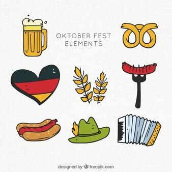 Hand gezeichnete oktoberfest ergänzt