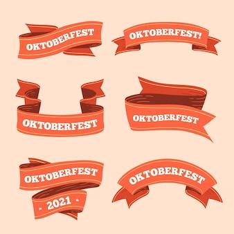 Hand gezeichnete oktoberfestbänder