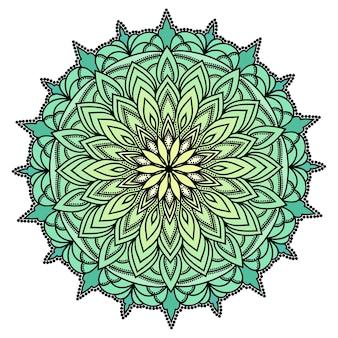 Hand gezeichnete orientalische dekorative ethnische spitze rundes mandala