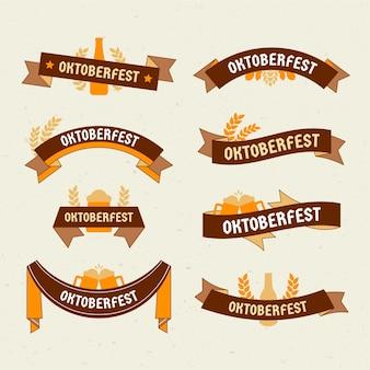 Hand gezeichnete packung oktoberfestbänder