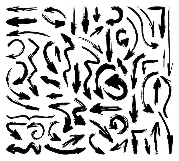 Hand gezeichnete pfeile gesetzt