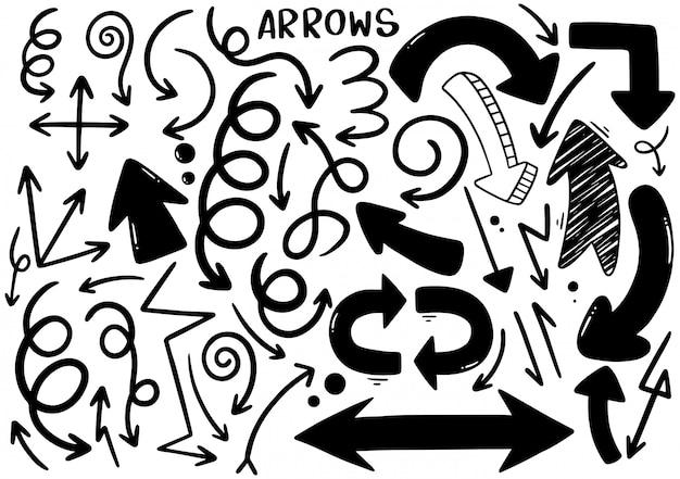 Hand gezeichnete pfeile