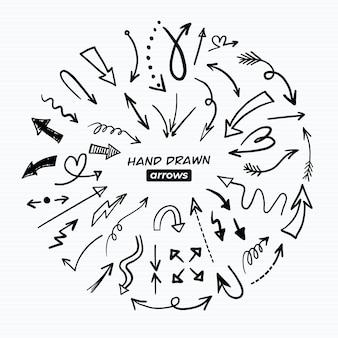 Hand gezeichnete pfeilpackung