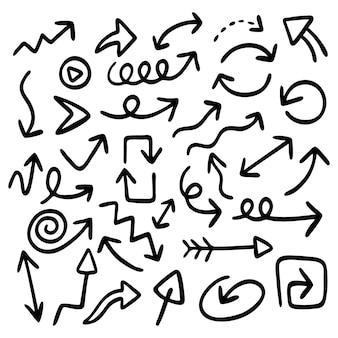 Hand gezeichnete pfeilsammlung Kostenlosen Vektoren