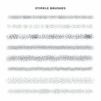 Hand gezeichnete punktpinselsammlung