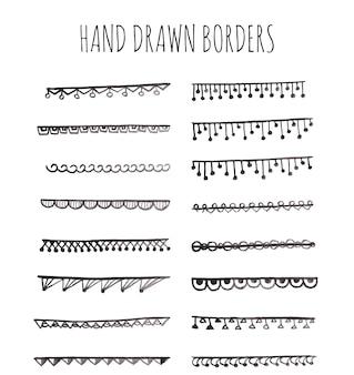 Hand gezeichnete ränder sammlung