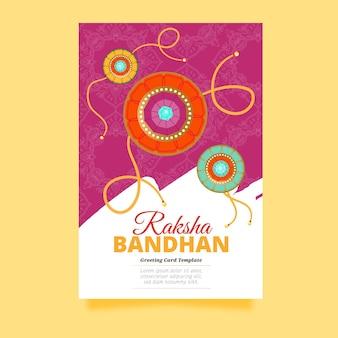 Hand gezeichnete raksha bandhan grußkarte