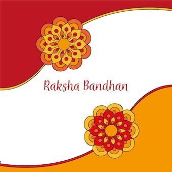 Hand gezeichnete raksha bandhan illustration