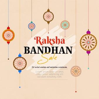 Hand gezeichnete raksha bandhan verkäufe