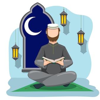 Hand gezeichnete ramadan-konzeptillustration