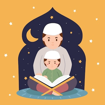 Hand gezeichnete ramadanillustration