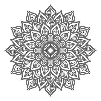 Hand gezeichnete reizende mandalaillustration für abstraktes und dekoratives konzept