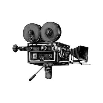 Hand gezeichnete retro filmkamera