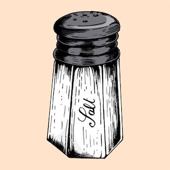Hand gezeichnete salzstreuer