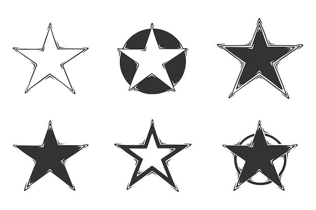 Hand gezeichnete sammlung von sternen