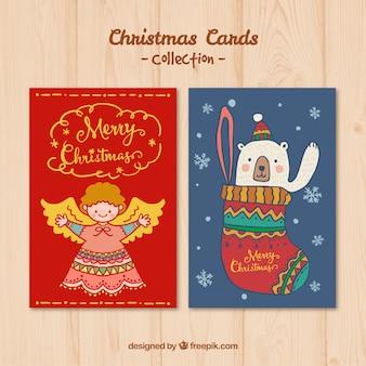 Hand gezeichnete schöne weihnachtskarte