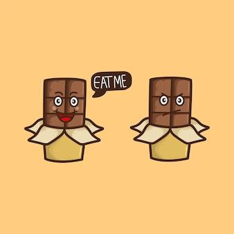Hand gezeichnete schokolade