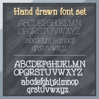 Hand gezeichnete schrift an bord