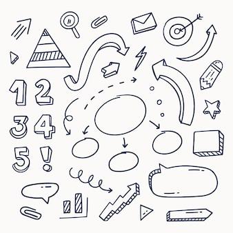 Hand gezeichnete schule infografik elemente