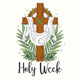 Hand gezeichnete semana santa