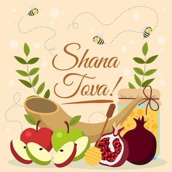 Hand gezeichnete shana tova