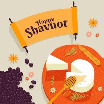 Hand gezeichnete shavuot-illustration