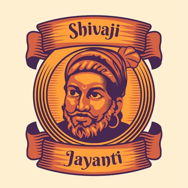 Hand gezeichnete shivaji jayanti illustration