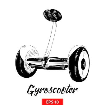 Hand gezeichnete skizze des gyroscooter