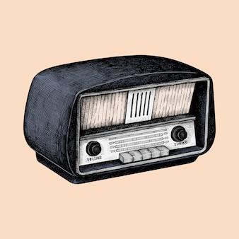 Hand gezeichnete skizze eines radios
