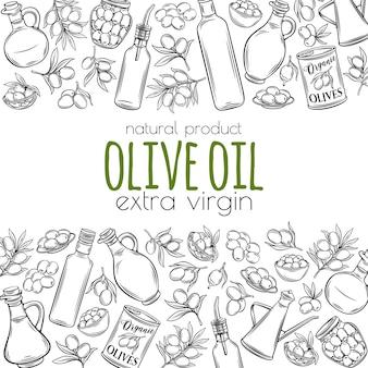 Hand gezeichnete skizze oliven
