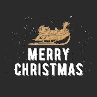 Hand gezeichnete skizze weihnachten und neujahr