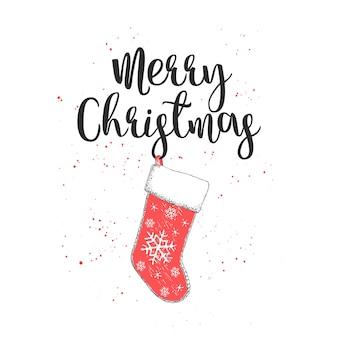 Hand gezeichnete skizze weihnachten und neujahrsfeiertag