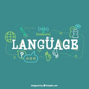 Hand gezeichnete sprachzusammensetzung