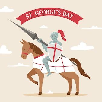 Hand gezeichnete st. george's day illustration