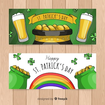 Hand gezeichnete st. patrick's day banner
