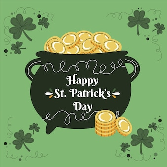 Hand gezeichnete st. patrick's day event illustration
