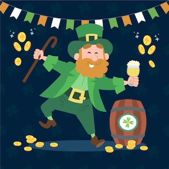 Hand gezeichnete st. patrick's day illustration