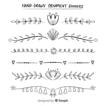 Hand gezeichnete teiler
