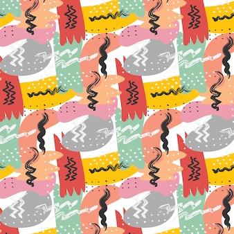 Hand gezeichnete texturen abstract pattern background.