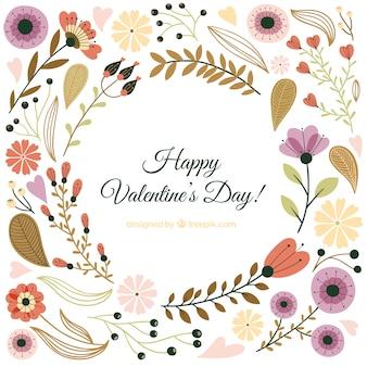 Hand gezeichnete valentinsgrußtagesblumen