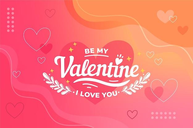 Hand gezeichnete valentinstag tapete