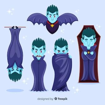 Hand gezeichnete vampircharaktersammlung