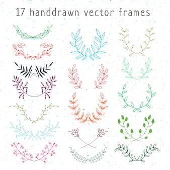 Hand gezeichnete vektorrahmen